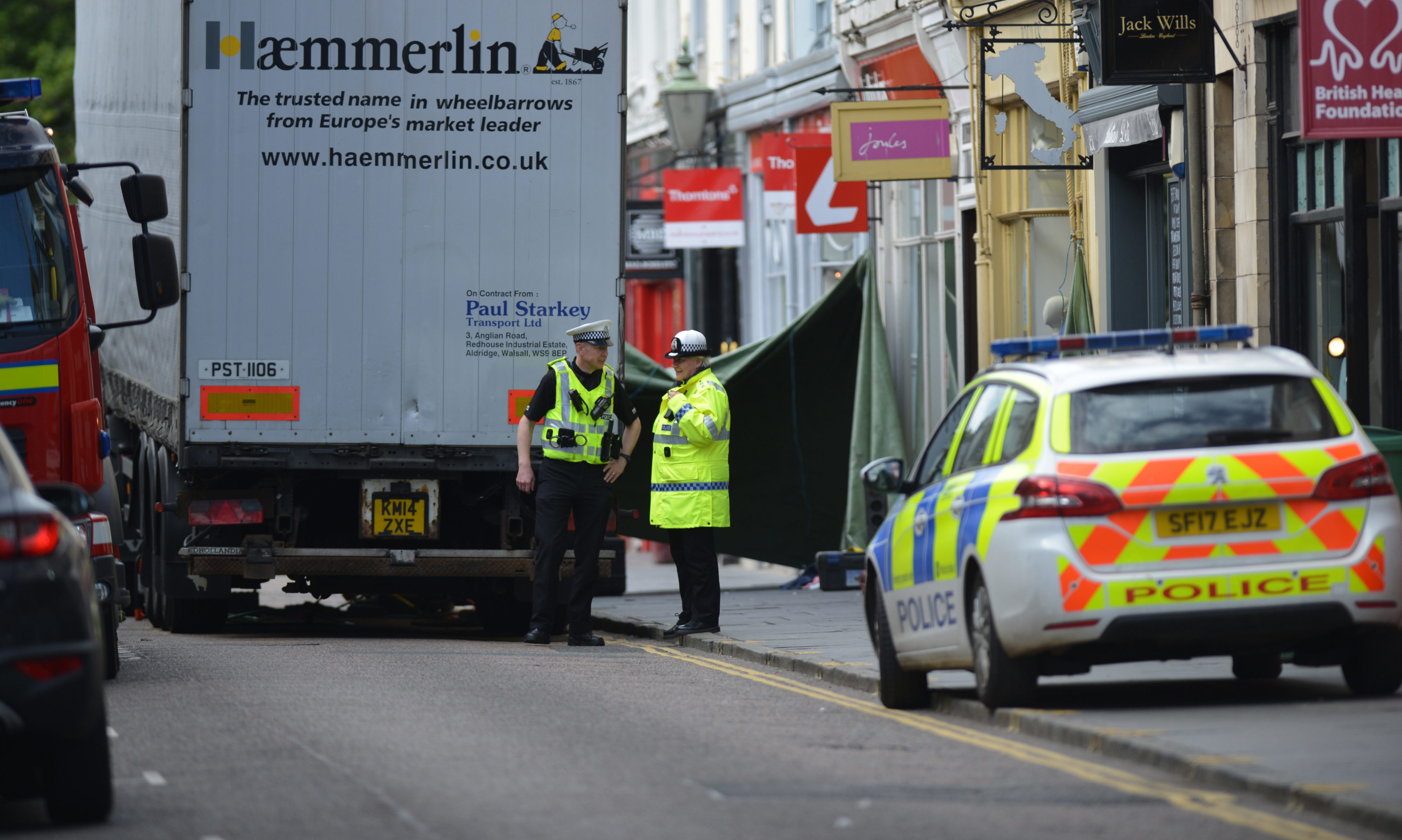 The scene of the incident on Bell Street, St Andrews.