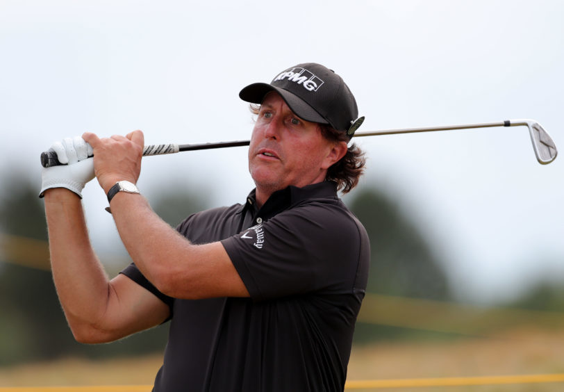 Phil Mickelson during preview day one of The Open Championship.