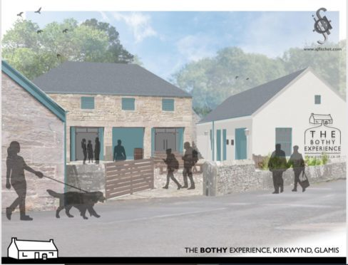 An artist's impression of The Gin Bothy Experience.
