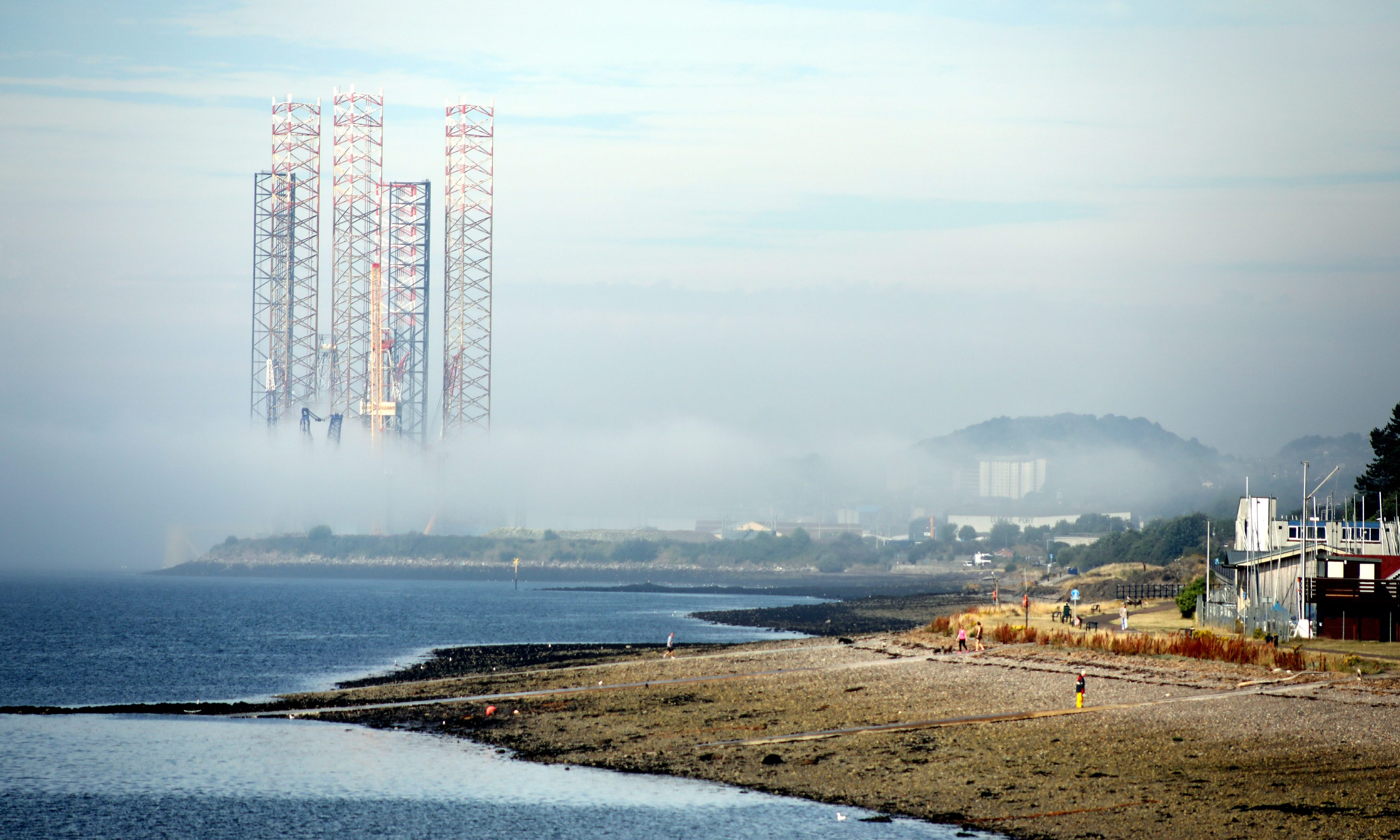 Haar moves into  the Port of Dundee during the final day of the summer 2018 heatwave on Friday, July 27 2018,
