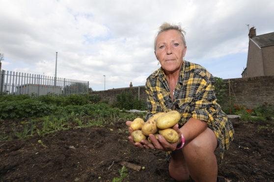 Laura Tierney of the Carnoustie Community Garden in Brown Street.