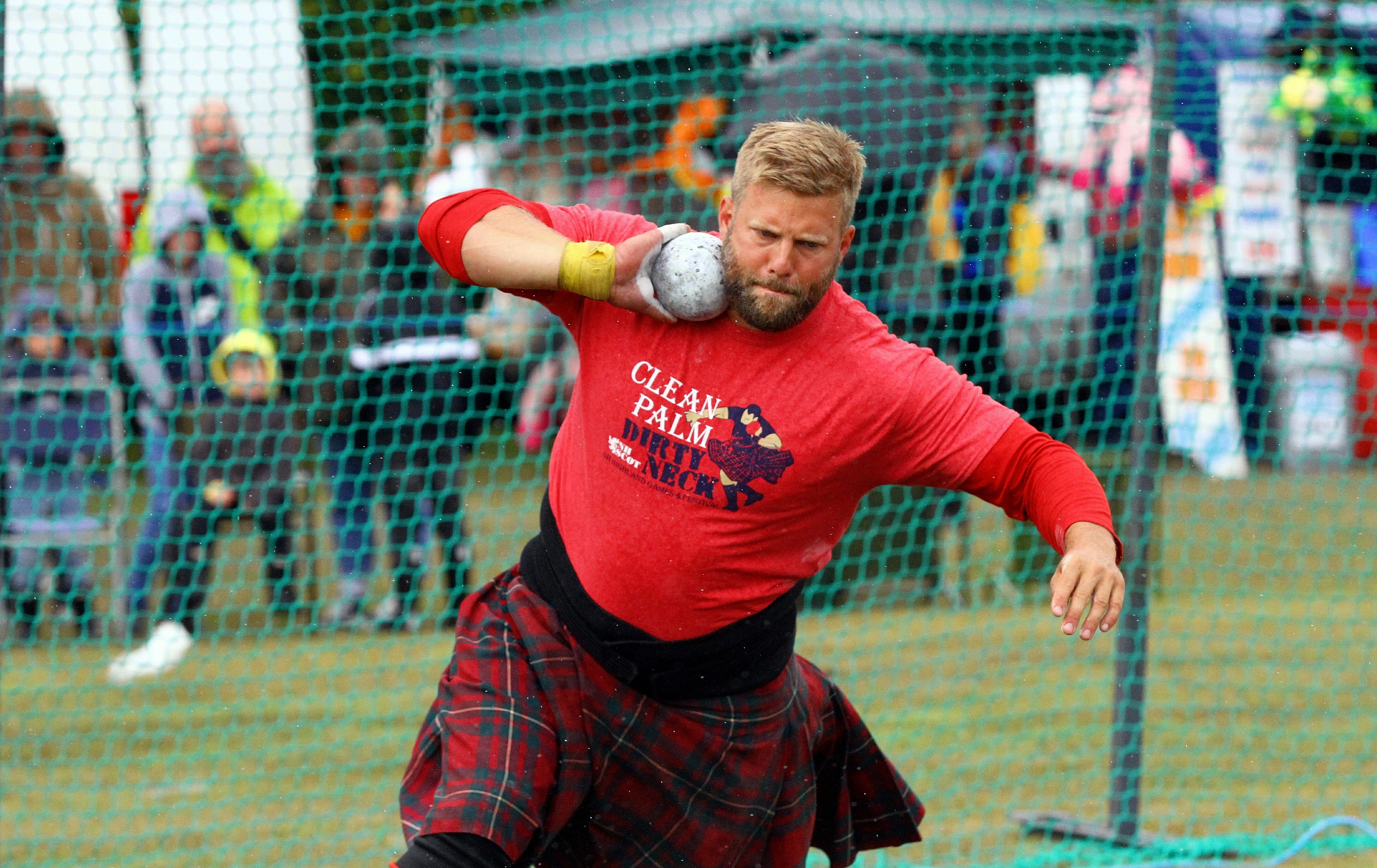 A competitor during at a previous St Andrews Highland Games.