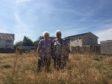 Elizabeth Wright and Hazel Smith at the unkempt land.