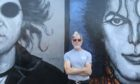 Artist Ian Imrie whose paintings of rock icons John Lennon and Michael Jackson have fallen foul of council chiefs and property owners.
