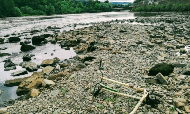 Clean-up of the River Tay unearthed some large items