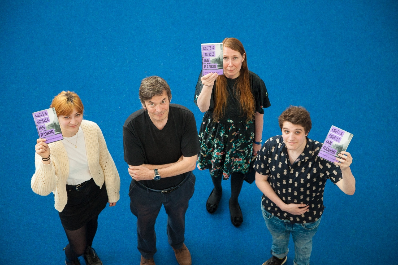Caitlin Sharkey, Ian Rankin, Roseanne Sunter and Jack Weir
