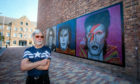 Artist Ian Cuthbert Imrie with his controversial rock star trilogy.