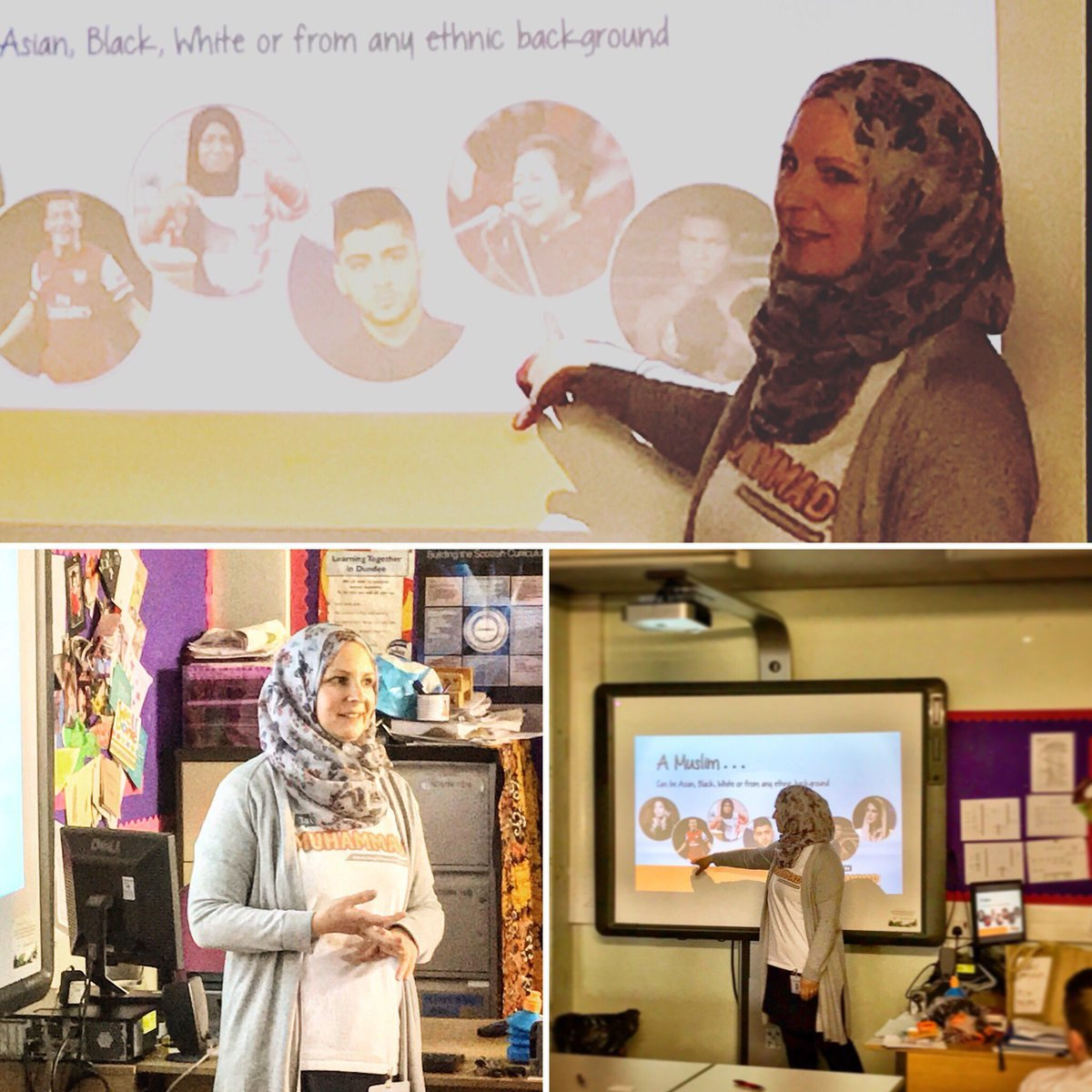Jenny Mabrouk gives a presentation recently at Braeview Academy