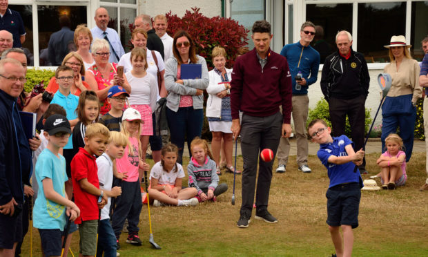Justin Rose at Scotscraig in 2018