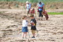 Some of the volunteer litter pickers at East Haven Beach during a BioBlitz in July.