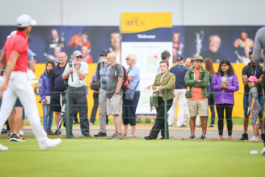 Monday at the Open. Picture: Kris Miller.