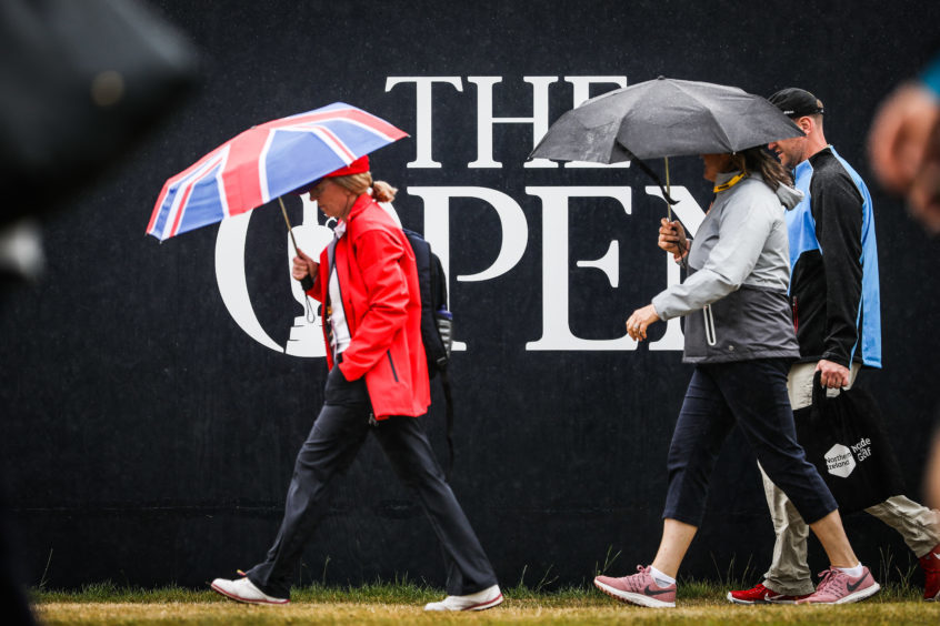 Fans arriving for day two of the Open.