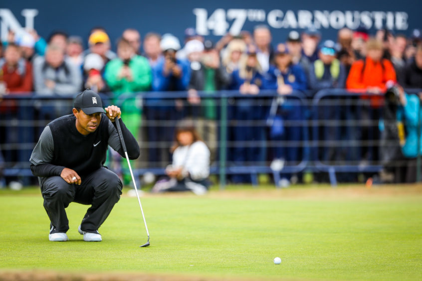 Tiger Woods in action.