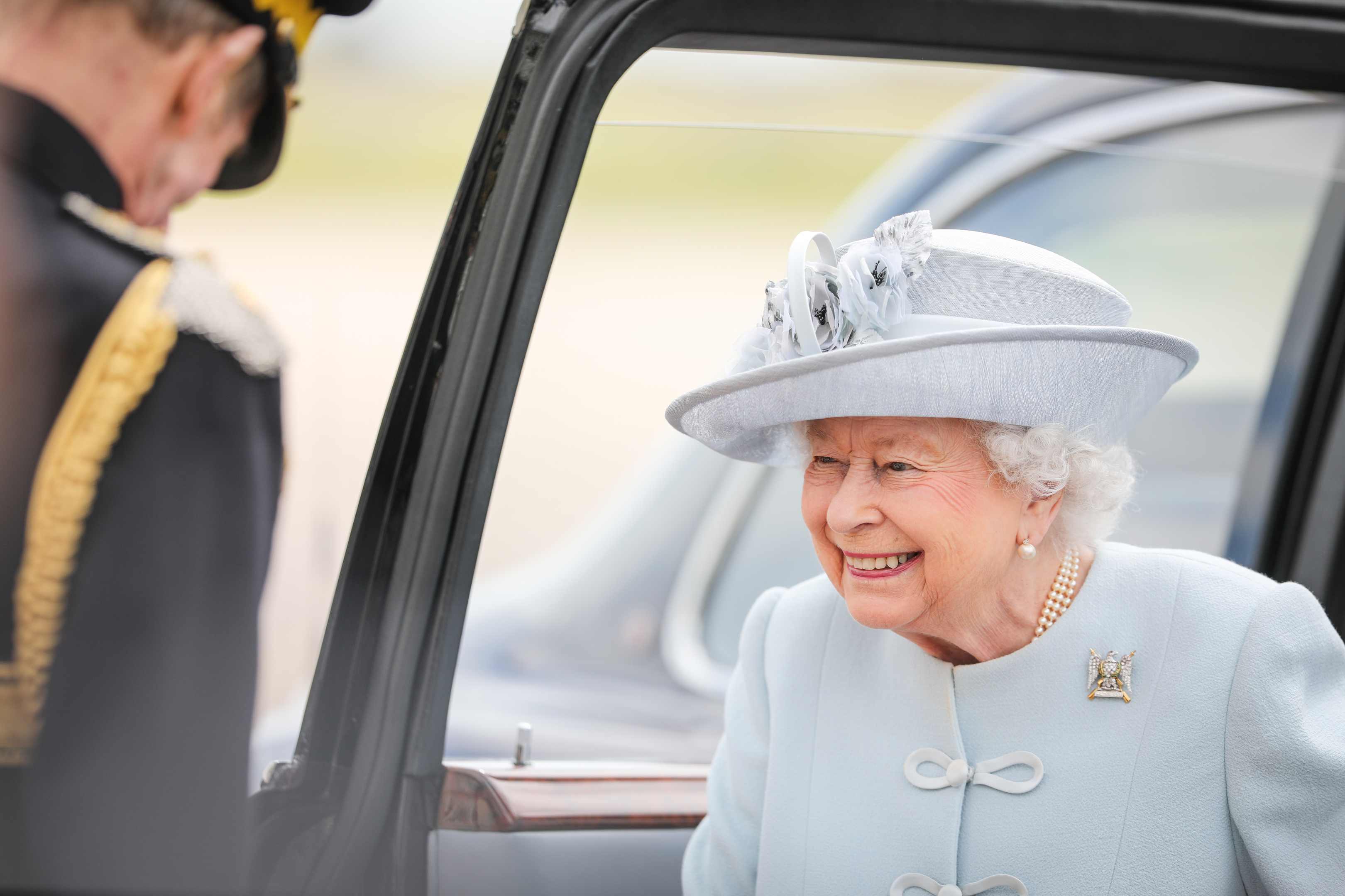 The Queen at Leuchars.