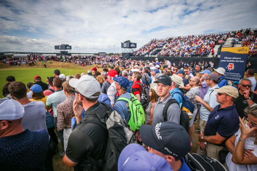 Carnoustie accommodated a record 172,000 spectators for the venue at last year's Open.