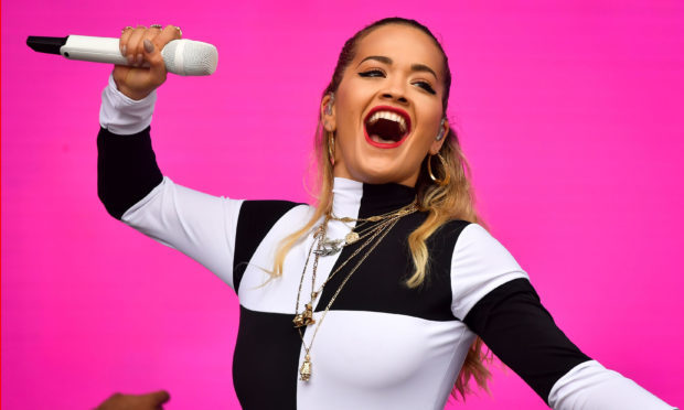 Rita Ora performs during the second day of BBC Radio 1's Biggest Weekend.