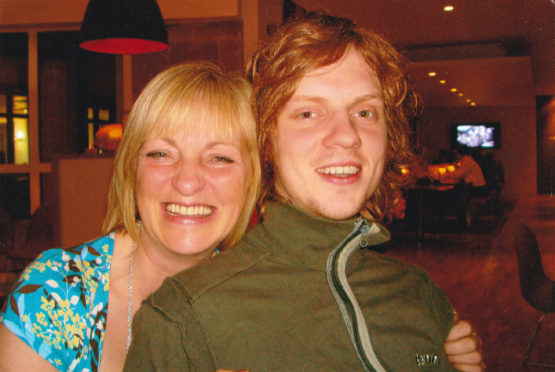 Sandra Ramsay and her late son, Ross.
