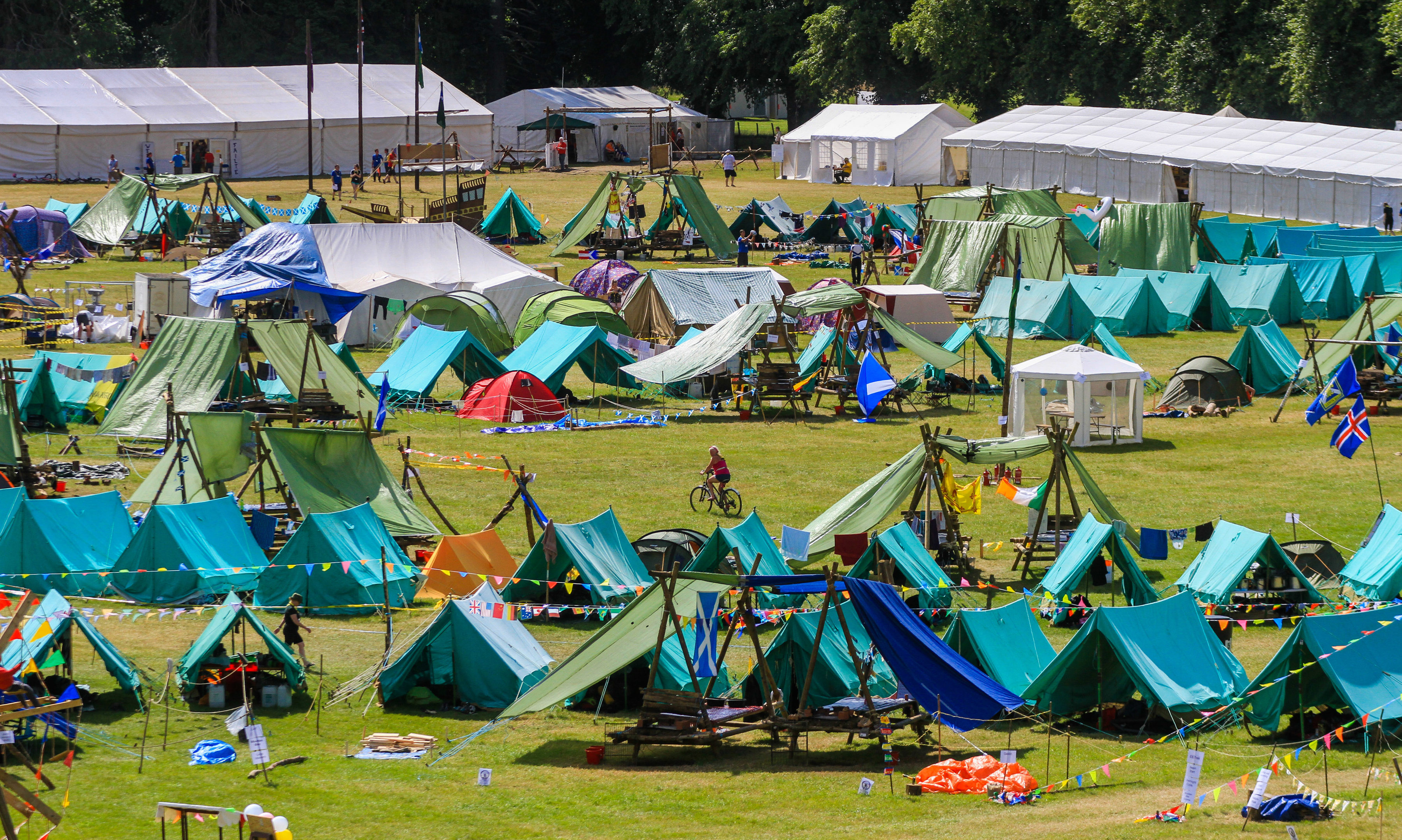 The Blair Atholl International Jamborette camp
