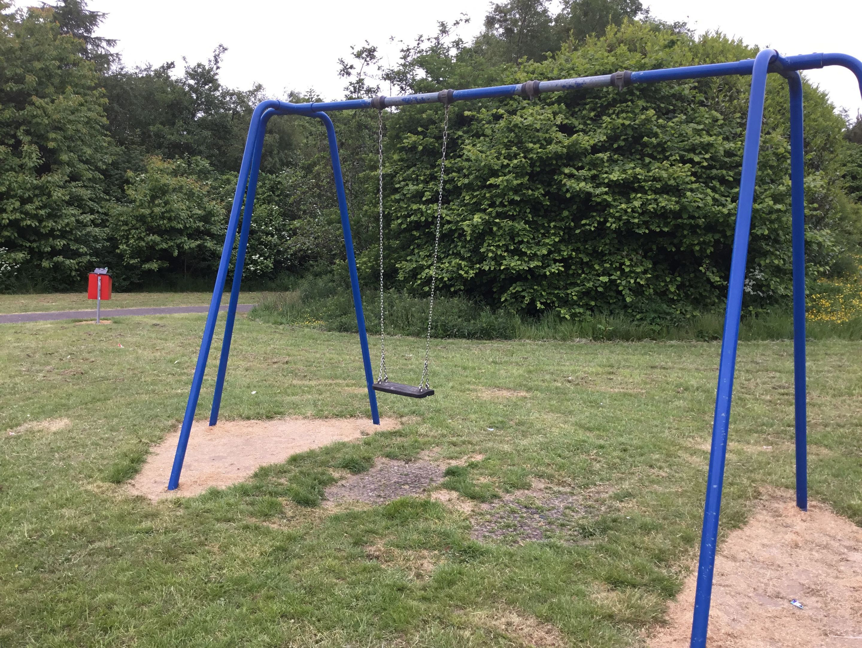 The swings at Sandy Park have been vandalised.