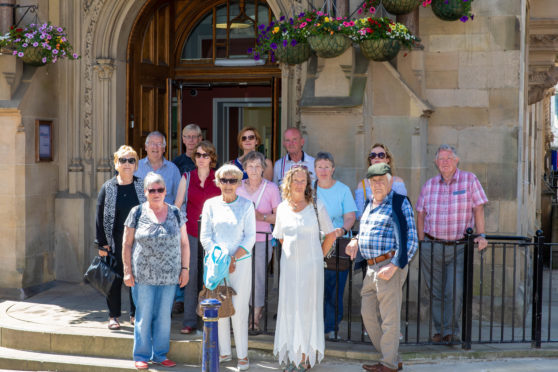 Aberdour residents gathered at Dunfermline City Chambers ahead of the council meeting.