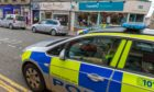 Police outside William Hill, Brook Street, Broughty Ferry.