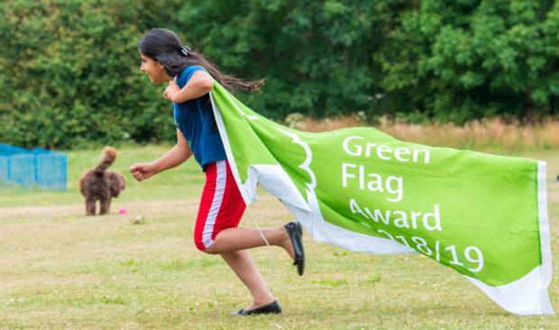 Shirine Al Assaf, 11, promoting the awards.