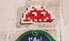 Artwork by Invader on the streets of Paris