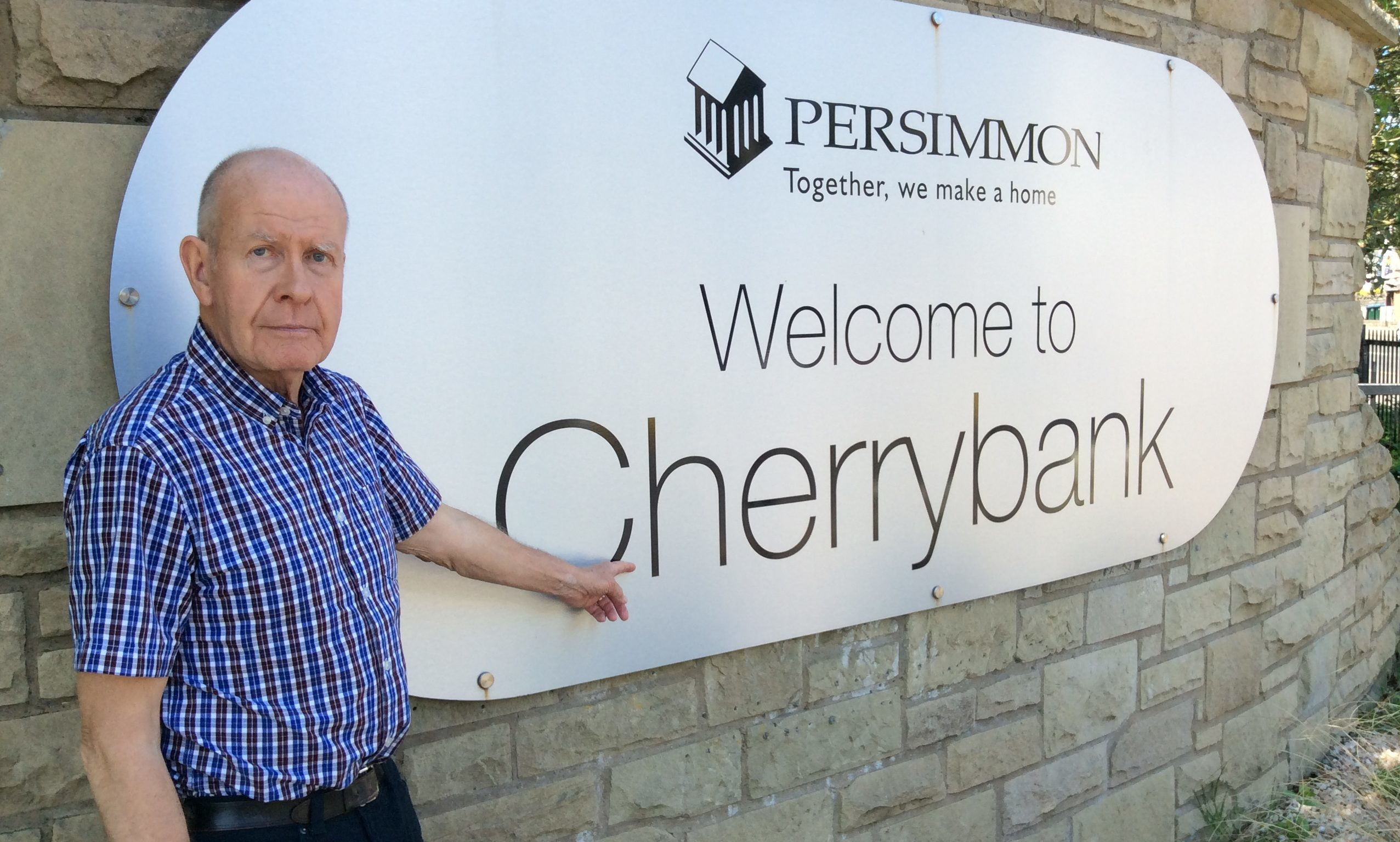 Councullor Willie Wilson at the Cherrybank site