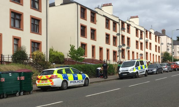 Police presence at Provost Road.