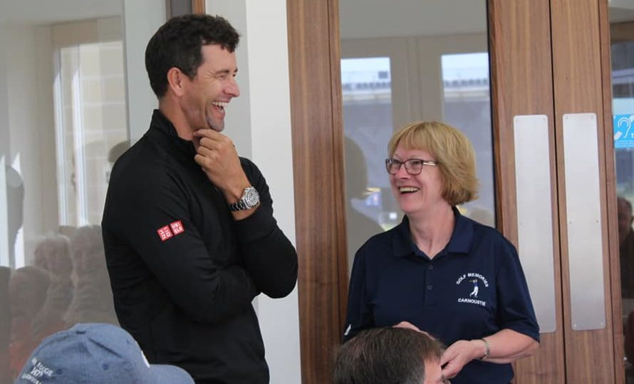 Adam Scott and Lorraine Young of Carnoustie Golf Memories
