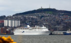 Cruise ship Magellan docked in Dundee in April 2016