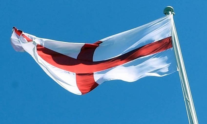 The England flag.