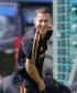 Graeme Jones jokes with Eden Hazard and Thierry Henry.