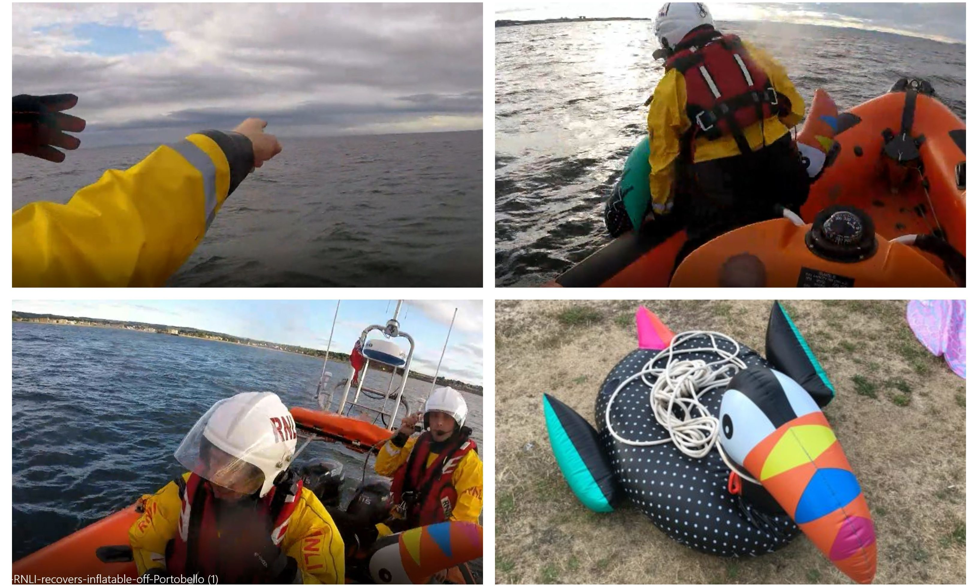 A video from the RNLI 'rescue' has been shared.