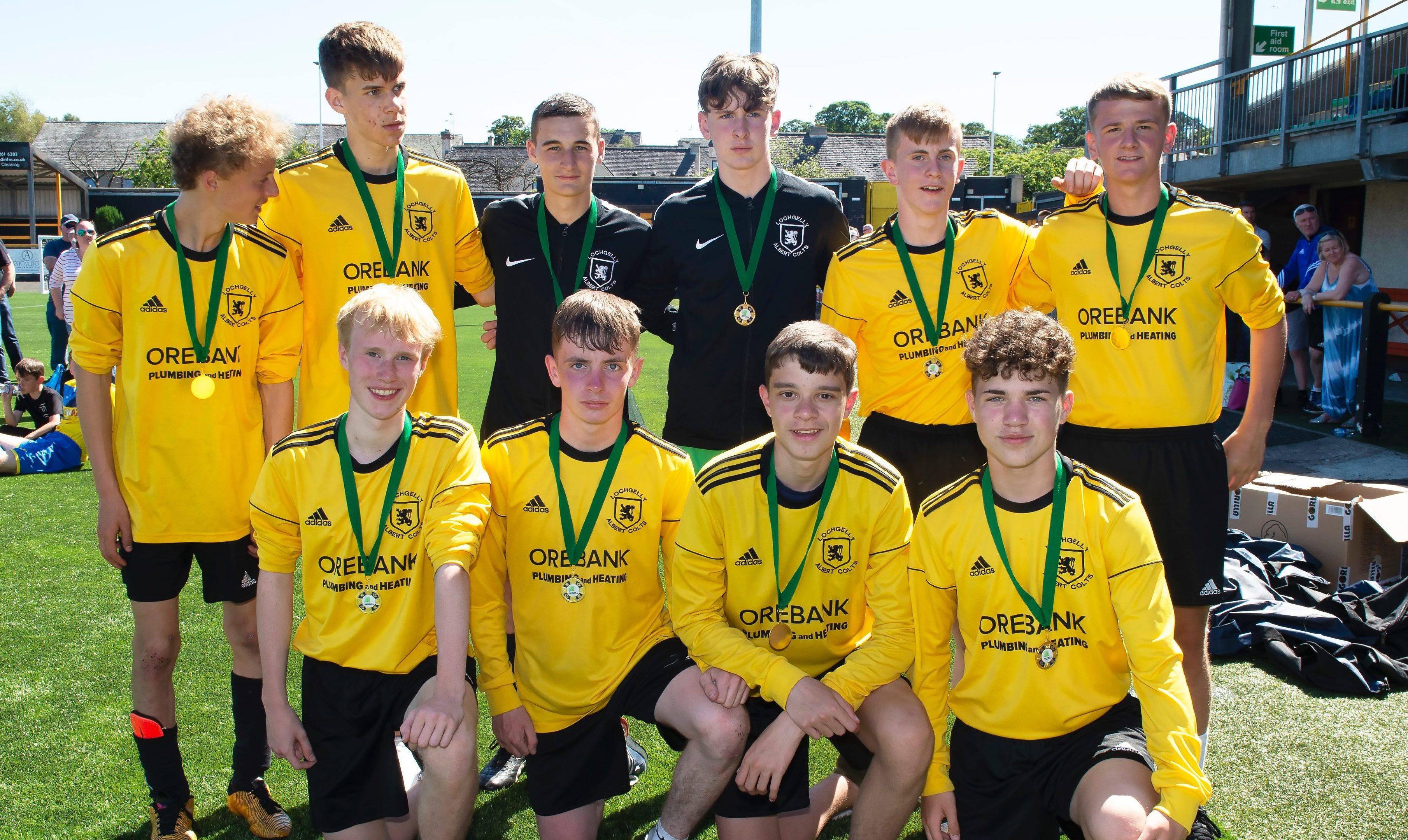 The Lochgelly team who will represent Scotland.