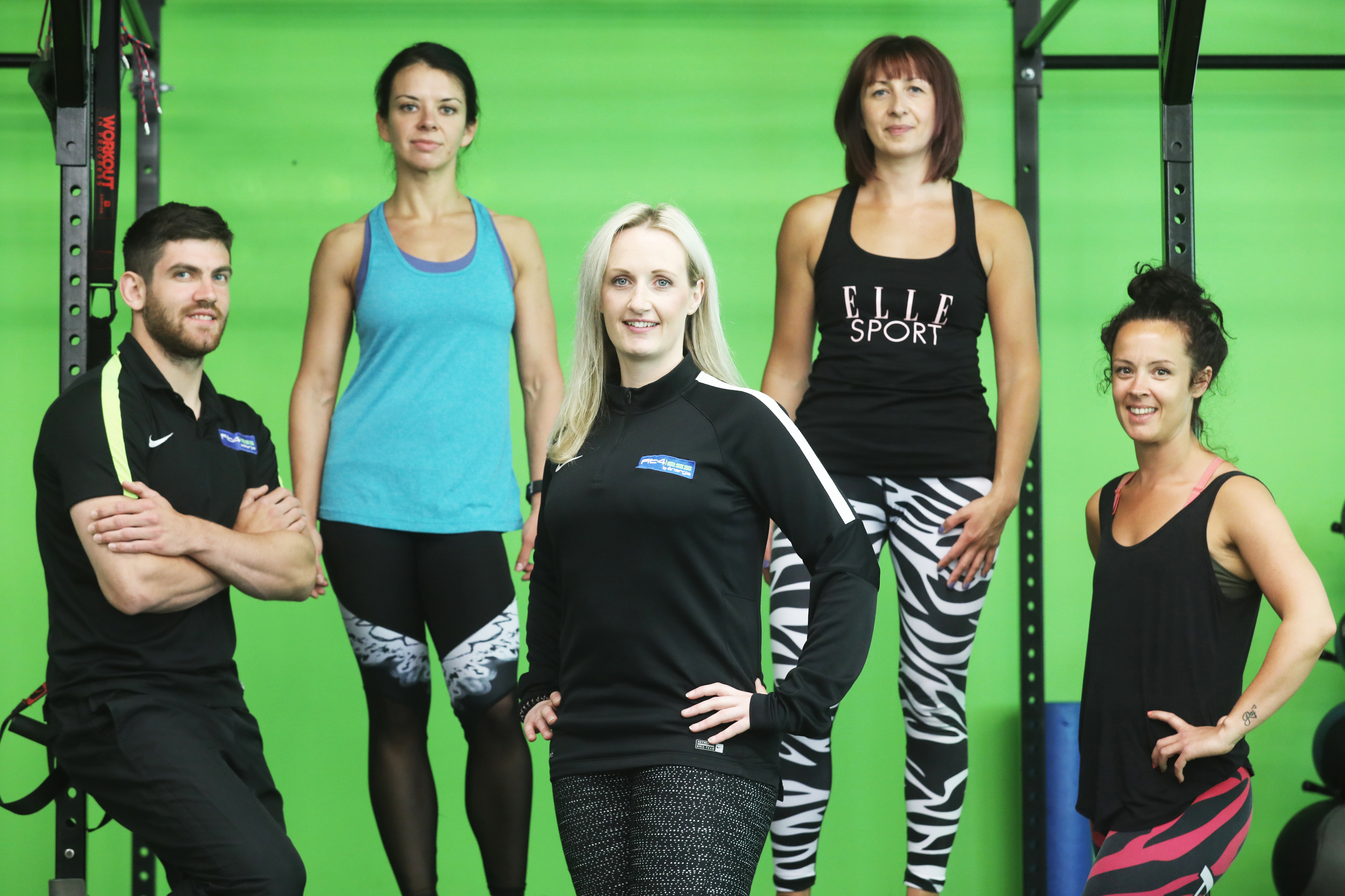 Fit4Less Perth members and staff. From left: Mike Coia, Agata Jamicka, Tammy Fleuchar, Michelle Fotheringham and Charlotte Dangi.