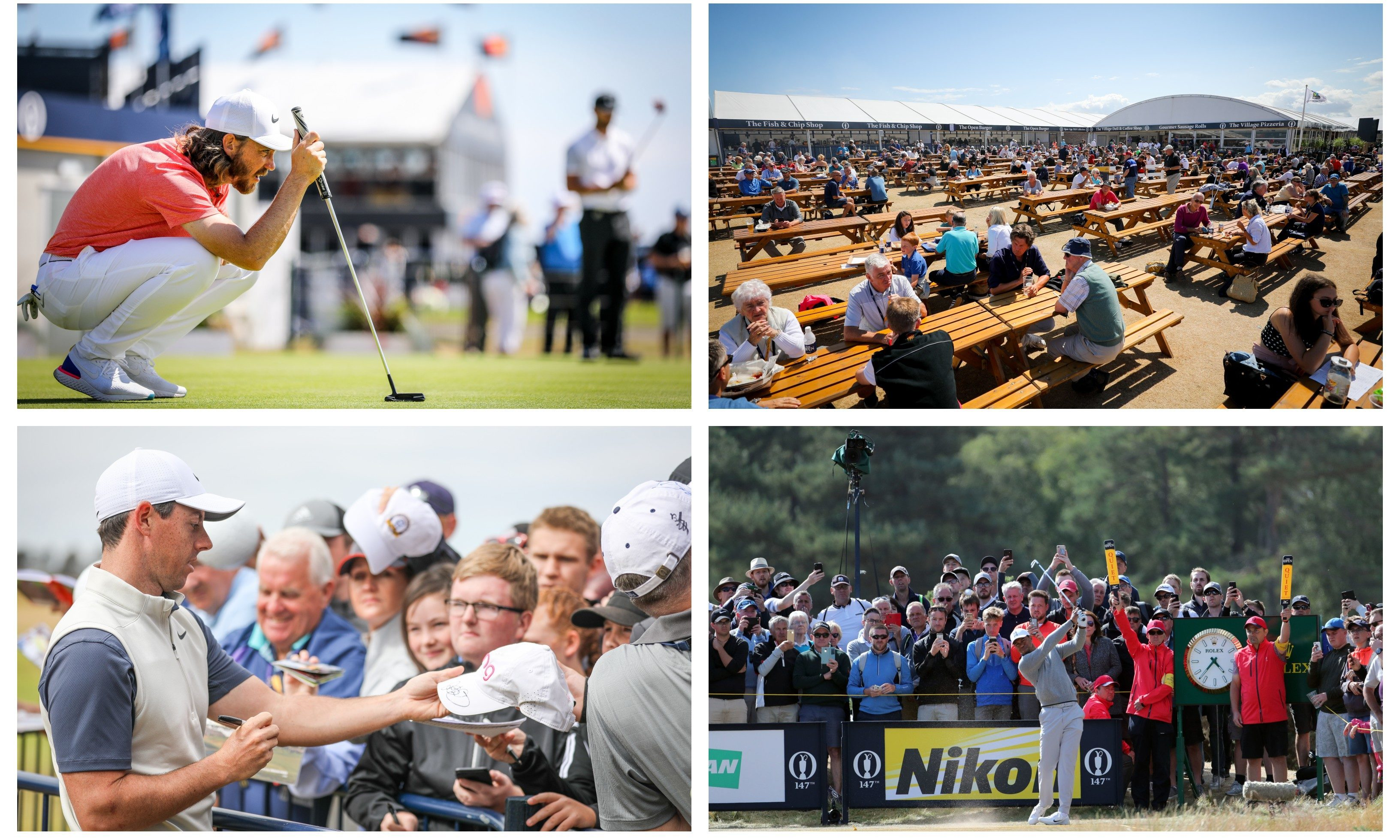Big crowds showed up for the fourth day of practice at the Open ahead of the competition kicking off on Thursday.