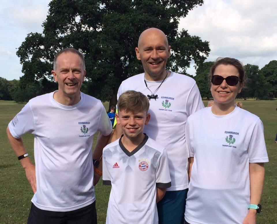 From left to right: David Mushet, Peter Boag and his son Nathan and Susan Alexander at the Camperdown Park run.