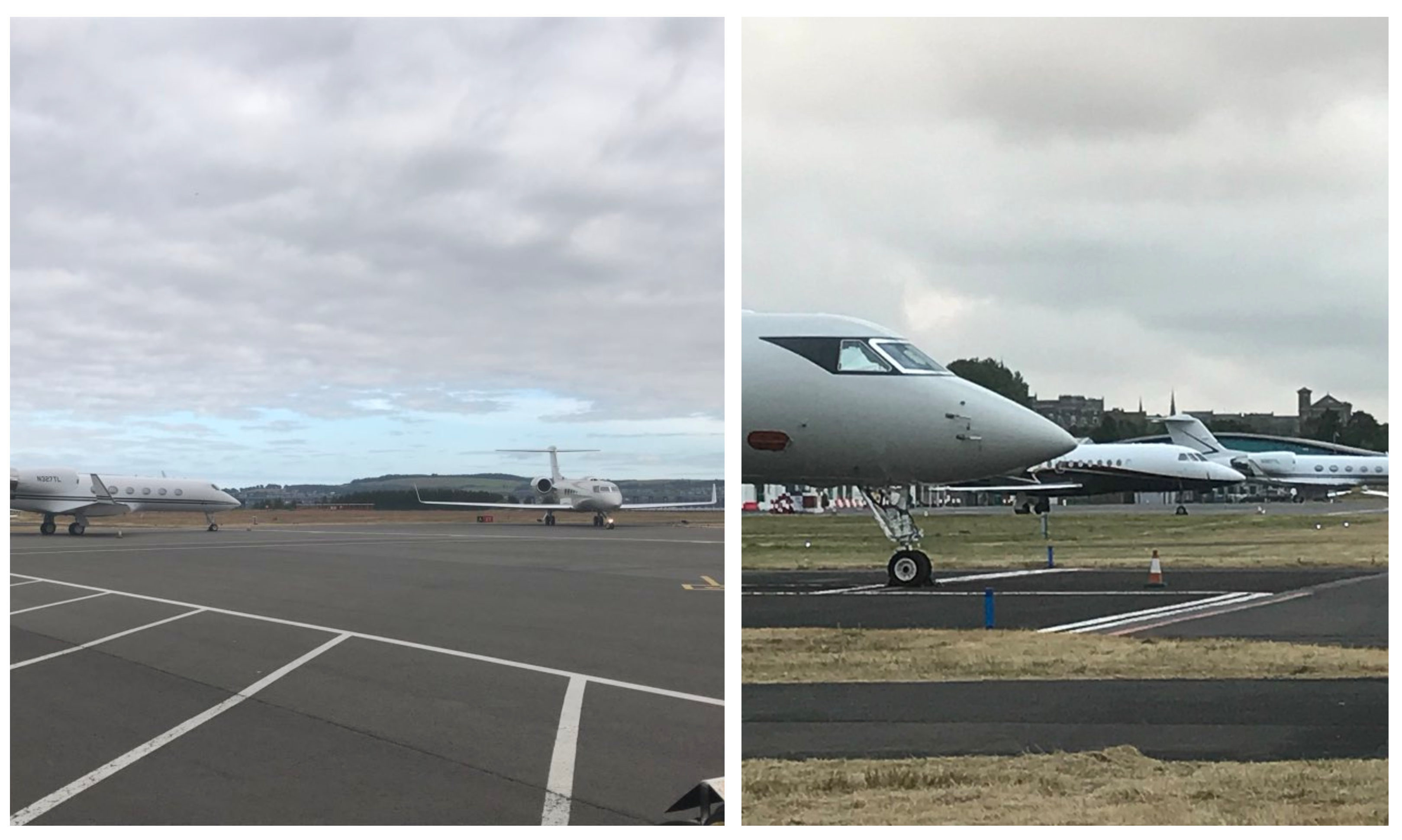 Some of the arrivals at Dundee Airport.