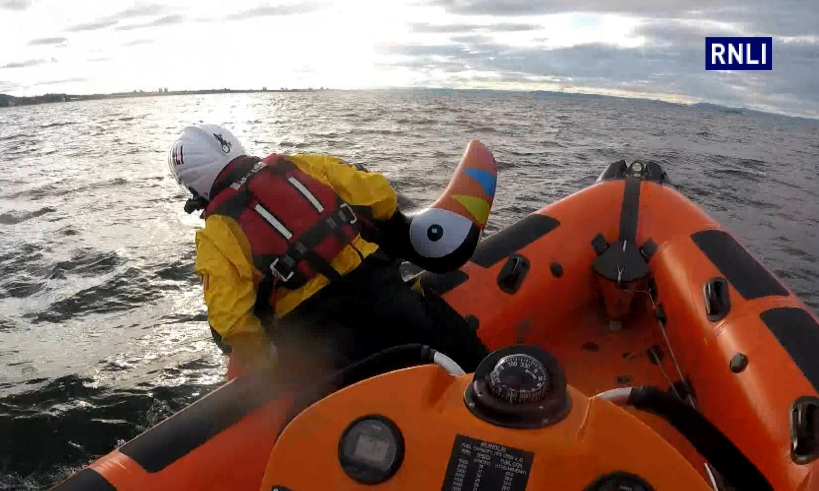 RNLI crews responding to an alert off Portobello. Thankfully, this one turned out to be a false alarm.