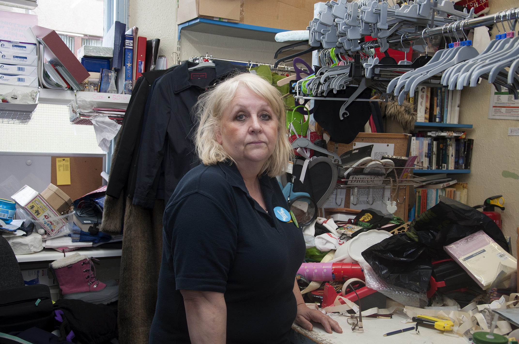 Oxfam shop manager Lynda Stuart is urging people to continue to donate to the Montrose shop.