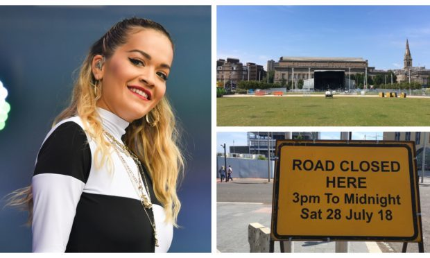The stage is set for Rita Ora's Dundee show.