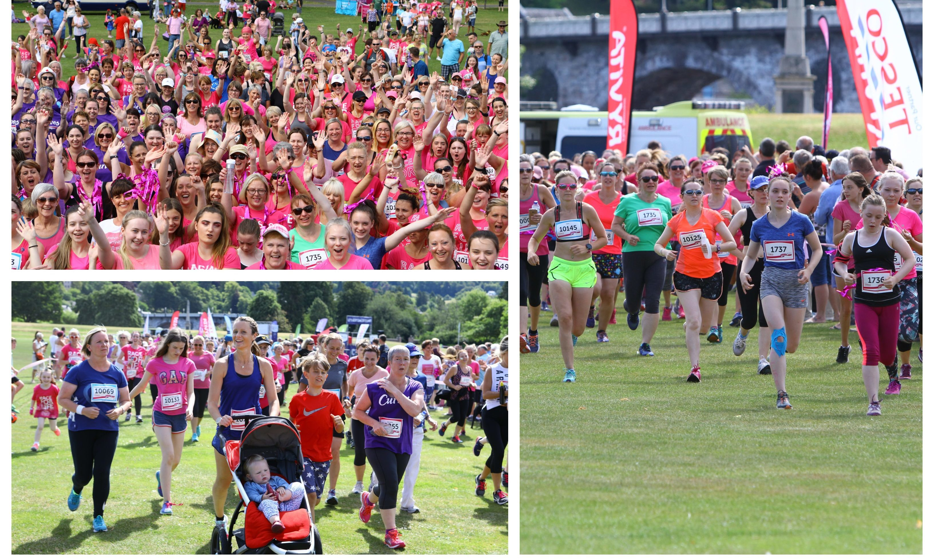 The 2018 Race for Life at North Inch, Perth.