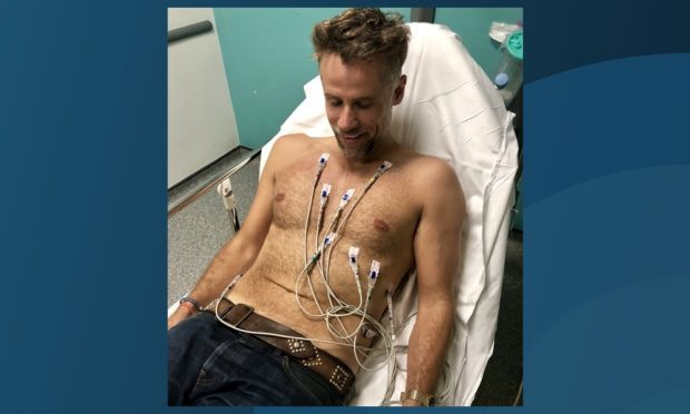 Richard Bacon tweeted a photo from the hospital.