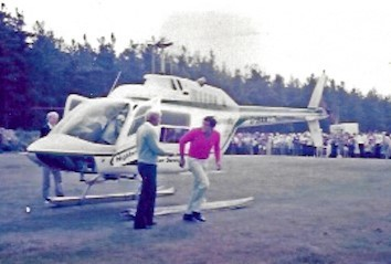 Jack and Seve touch down at Ladybank.