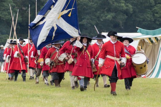 Redcoats on the battlefield.