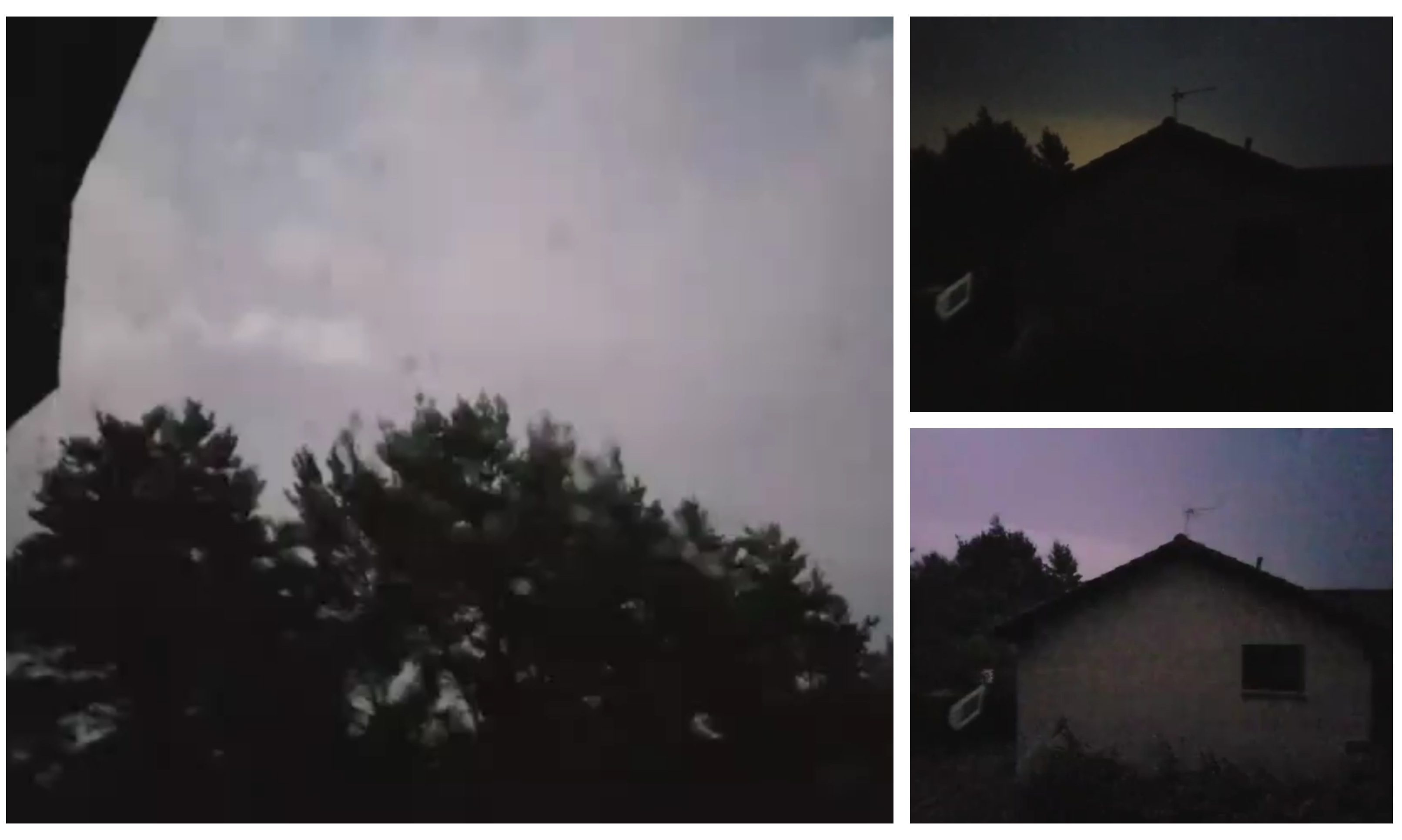Screen grabs from Blair Durno's thunderstorm footage.