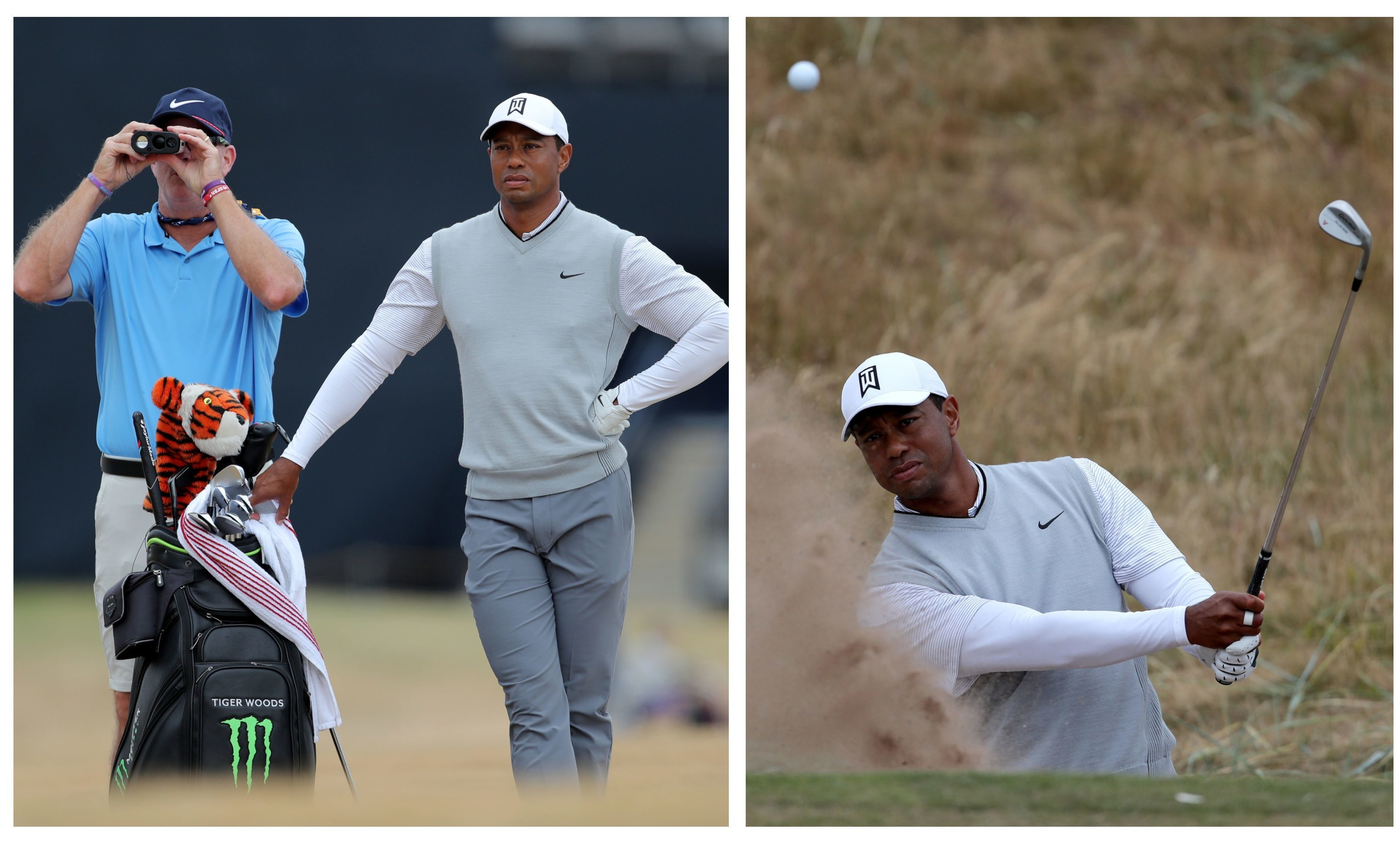 Tiger Woods in Carnoustie.