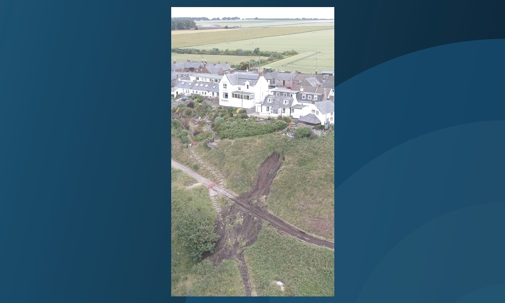 The damage viewed from the air.