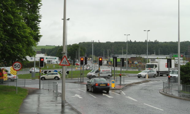 The Myrekirk roundabout, Dundee.